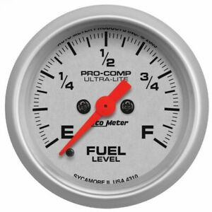 Autometer 2 1 16in Programmable 0 280 Ohms Ultra Lite Fuel Level Gauge 4310