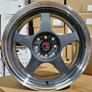 Set Of Traklite Burn 16 x7 4x100 Et38 Wheels Gunmetal For Honda Miata Rims