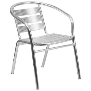 Flash Furniture Heavy Duty Aluminum Commercial Restaurant Stack Chair