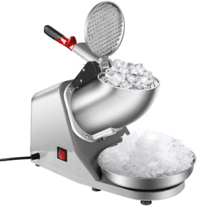 Electric Ice Crusher Shaver Snow Cone Maker Machine Commercial Ice Scraper New