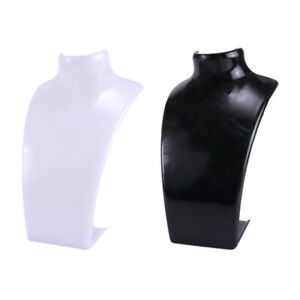 2 Pcs Acrylic Jewelry Bust Jewelry Stand Necklaces Holder Display Holder