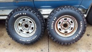 1971 1980 2 Chevy Rally Wheels 14 X 6 Wide 5 X 4 3 4 W S60 Tires Vw Adapters