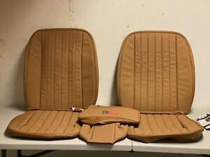 Jaguar Xke E type Replacement Front Seat Cover Kit Beige Leather