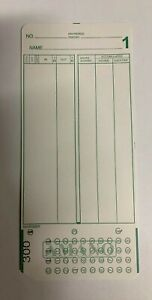 2000 Amano Mjr 8000 Time Clock Cards Series 300 549 white Card Stock
