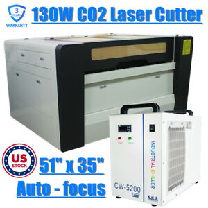 1390 130w Co2 Laser Cutter Engraver With Double Table up down Lift pass Through
