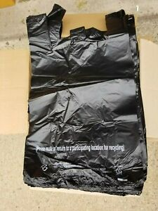 Mybrownboxes Mini Jumbo Black Plastic Shopping Bag For Big Size 15 X 8 X 27