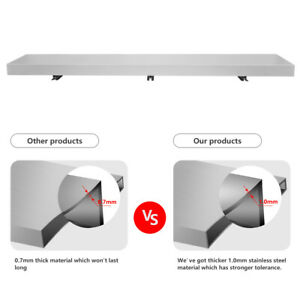 Commercial 6ft Food Truck Serving Table Concession Shelf Window Stands Tabletop