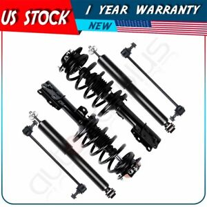 For 2009 12 Chevy Malibu Front Complete Struts Rear Shocks Sway Bar End Link