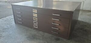 Industrial 5 Drawer Blueprint Drawing Maps Plans File Cabinet 47 X 35 X 17 5