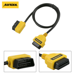 1m Obd2 Convertor 16pin Male To Female Adapter Cable Extend Obd Connector Wire