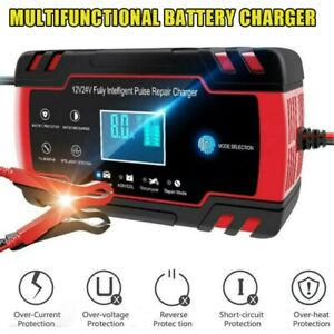 Portable Car Truck Emergency Battery Charger Jump Starter 12v 24v Lcd Display Us