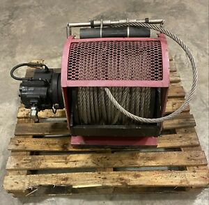 Dinamic Oil A120 4 Hydraulic Winch 300 X 5 8 Ss Cable used
