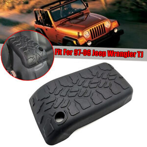 For 1997 2006 Jeep Wrangler Tj Center Console Armrest Black Cover Pad Tire Tread