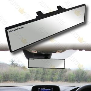Universal Flat 300mm Wide Broadway Clear Interior Clip On Rear View Mirror