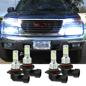 Front Led Headlight Bulbs For 2004 2012 Chevy Colorado Gmc Canyon High low Qty4