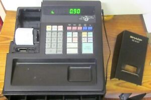 Sharp Xe a107 Cash Register Power Cord Powers On Tested Working Correctly