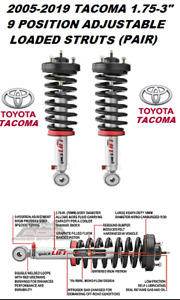 Rancho 9000 Adjustable Front Shocks Struts For 05 20 Toyota Tacoma 2wd 4wd