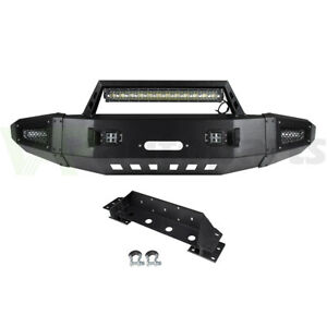 Offroad Full Width Front Bumper Assembly W Light For Chevy Silverado 2500 15 17