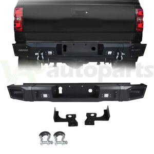 For 15 17 Chevy Silverado 2500 Offroad Rear Step Bumper Assembly W Light D Ring