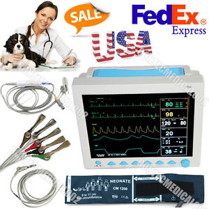 Usa Fedex Veterinary Portable Patient Monitor 6 Parameters Vital Signs Monitor