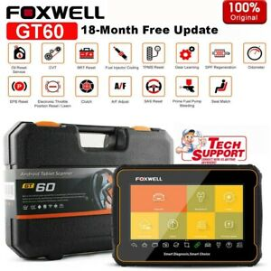 Foxwell Gt60 Tablet All System Diagnostic Tool Pms Brt Dpf Abs Obd2 Scanner