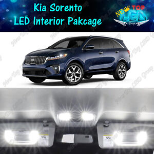 White Led Interior License Plate Lights Package Kit For 2016 2020 Kia Sorento