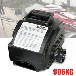 Portable Electric Winch 62000lbs Towing Hitch Truck Trailer Boat 12v W Remote