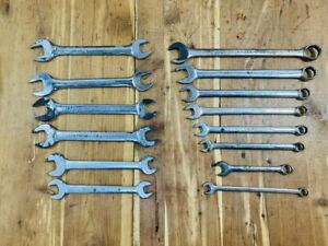 Armstrong Armaloy Combination End Wrench Lot Set 7 8 3 4 5 8 9 16 1 2 7 16