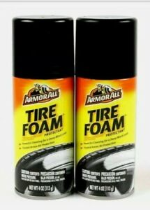2 X Cans Armor All Car Truck Tire Foam Shine Protectant Cleaning Spray 4oz Cans
