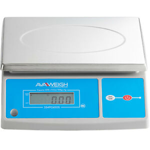 60 Lb Digital Portion Control Scale With An Oversized Platform Avaweigh Pc60os