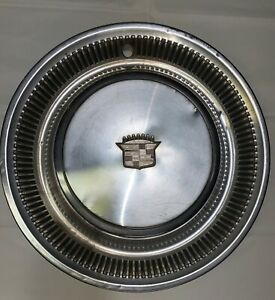 1974 1975 1976 Cadillac Deville Fleetwood Set Of 4 Hubcaps Wheel Covers