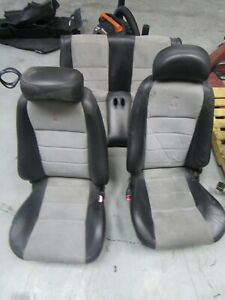 2003 04 Ford Mustang Svt Cobra Convertible Seats Medium Graphite Inserts 043