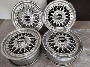 Genuine 15 Bbs Rs033 Bmw E30 E21 Vw Golf Mazda Mx5 4x100 3 Piece Forged Wheels