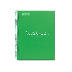 Miquelrius Emotions 1 subject Lined Cardboard Notebook A4 8 75x11 25 Green
