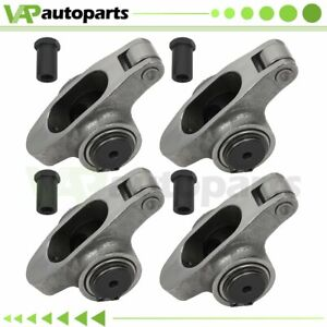 For Small Block Chevy Sbc 350 Stainless Steel Roller Rocker Arms 1 6 Ratio 3 8