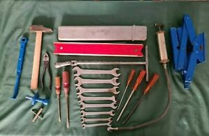 Lot Toolkit Ferrari 275 Jack Pliers Screwdriver Hammer Carb Wrench Beta 250