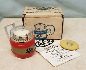 Vintage Aaa Compass Dash Mount Car Rat Hot Rod Auto Club Nos In Box 1960s Works