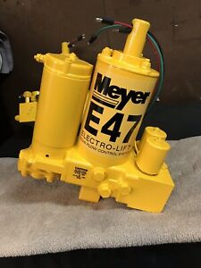 Meyer E47 Snow Plow Pump Rebuilt And Tested On Factory Stand