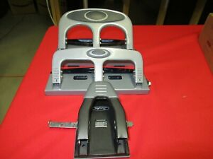 Lot Of Three Heavy Duty two Three Hole Punch one Two Hole Punch Machines