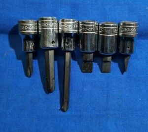 Old Logo Snap on 6pc 3 8 dr Impact Driver Bit Set Phillips Slotted F42 F52 F62