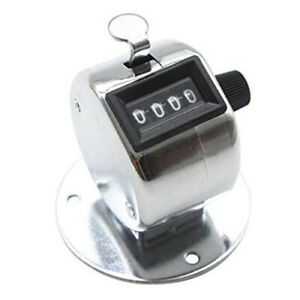 4 Digit Number Dual Clicker Golf Hand Tally Counter With Base Handy Convenient