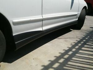 For 94 01 Acura Integra Type R Style Side Skirt Abs Plastic Black Unpainted