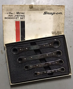 Snap On Ratcheting Box Wrench Set Rbm604 Metric 12 Point in Original Box