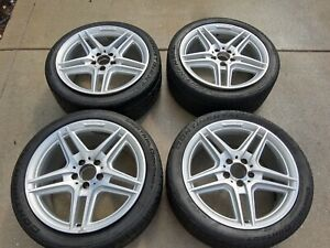 Set Of 4 Wheels 18 Staggered W204 Oem