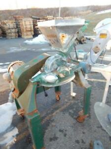 Mikro Pulverizer 4 Inch Stainless Steel With Screw Feeder 5 Hp Type 1sh