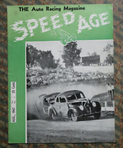 Speed Age 4 1947 Auto Stock Car Racing Motorcycles Dirt Track Hot Rod Vintage