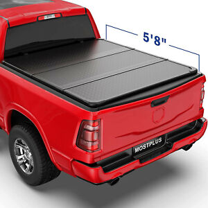 Tri Fold 5 7 5 8ft Hard Truck Bed Tonneau Cover For 09 21 Ram 1500 No Ram Box