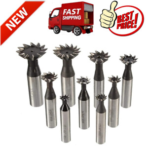 45 60 Degree Straight Shank Dovetail Cutter End Mill Slot Milling Heavy Duty New