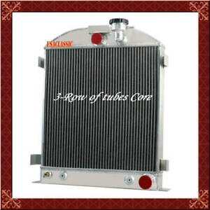 Aluminum 3 Row Radiator Fits Ford Grill Shells 3 Chopped Chevy Engine 1939 1940