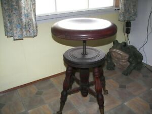 Vintage A Merriam Co So Acton Mass Antique Piano Stool